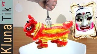 Kluna Tik Eating Incredible LION DANCE!!! Kluna Tik Style #58 | ASMR eating sounds no talk