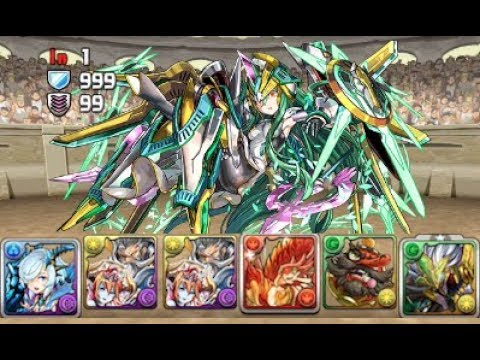 [Puzzle and Dragons] March Quest Dungeon - Lv10 (Kiri/Odin Dragon)