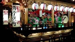 2009 浜松祭り 西菅原町御殿屋台のお囃子連