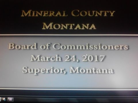 Mineral County Montana Commissioners' meeting March 24, 2017