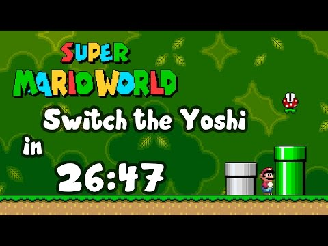 Super Mario World - Switch the Yoshi in 26:47