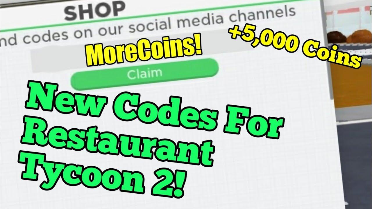 Roblox Restaurant Tycoon 2 Codes Youtube