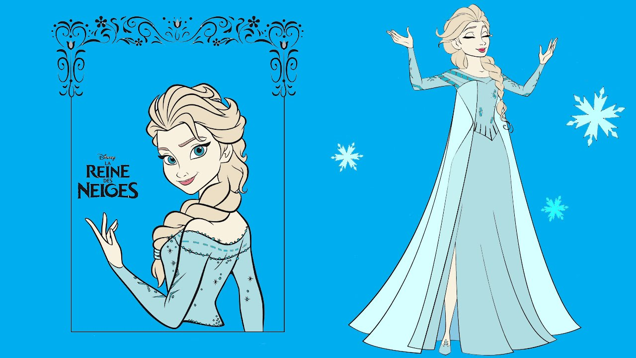 Frozen Coloring Pages For Kids Book Part 03