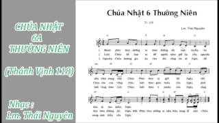 ĐÁP CA: THÁNH VỊNH 118 - (CHÚA NHẬT 6A THƯỜNG NIÊN) - Lm Thái Nguyên