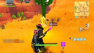 """""""Search between an oasis, rock archway, and dinosaurs"""" EXACT Location Fortnite Week 2 Challenges!"""