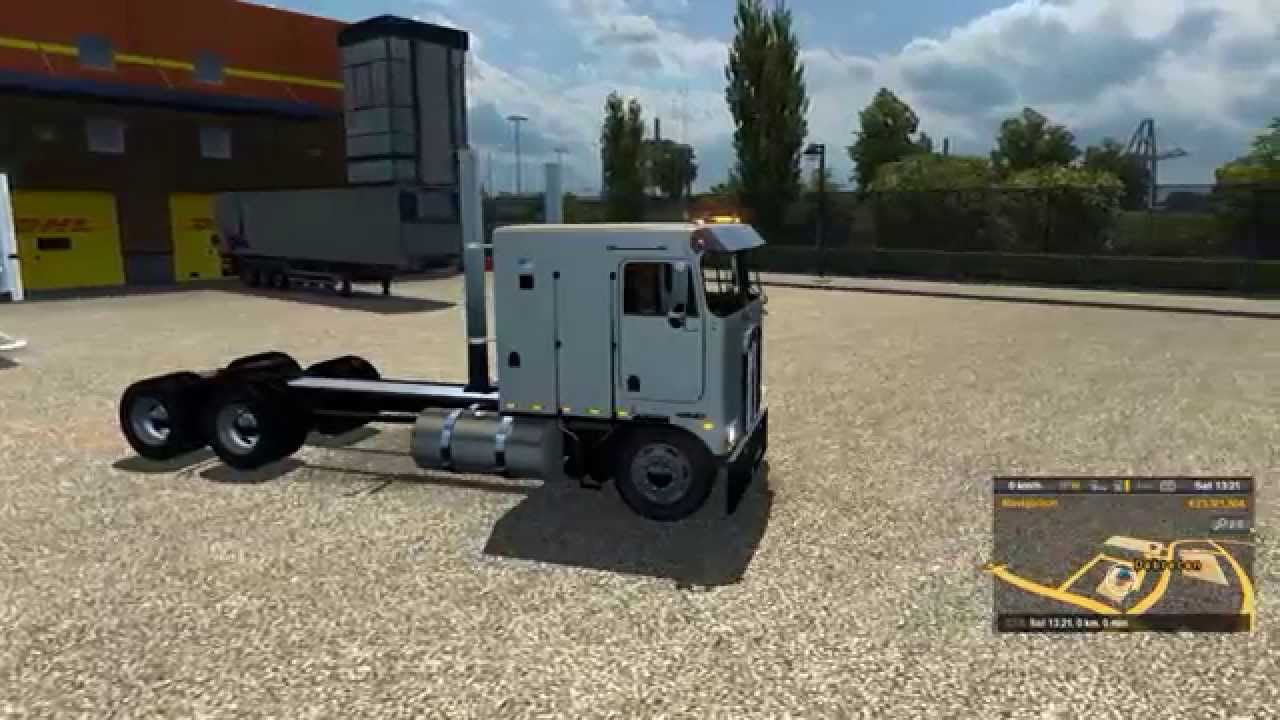 Euro Truck Simulator 2: New Kenworth K100 Long Frame - YouTube