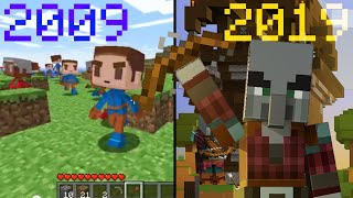 Evolution of Minecraft: 2009-2019 (in 5 minutes)