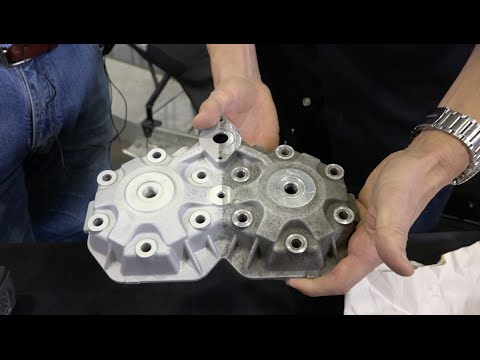 Engine parts Vapour Blasting process, before and after!!