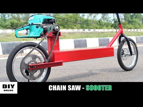 Homemade Motorized Scooter Using 2 Stroke Engine   DIY Scooter