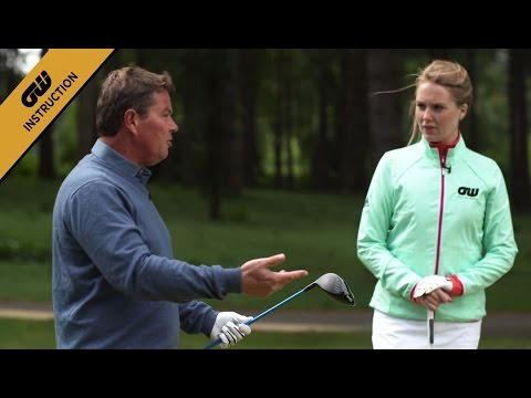 Instruction: Tee shot prep with Simon Holmes and Anna Whiteley