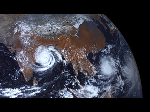Three Cyclones As Seen From Space At The Same Time | 4K