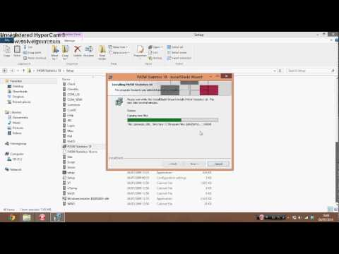 Installing SPSS 18.0 on Windows