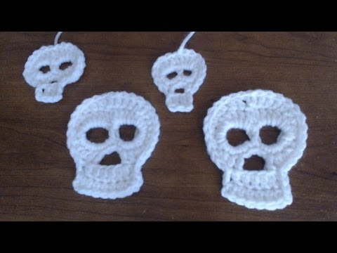 How to Crochet a Skull Applique--2 Different Sizes