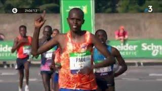 Marathon de Paris 2018 : Lonyangata et Betsy arrivent en même temps après un finish haletant !