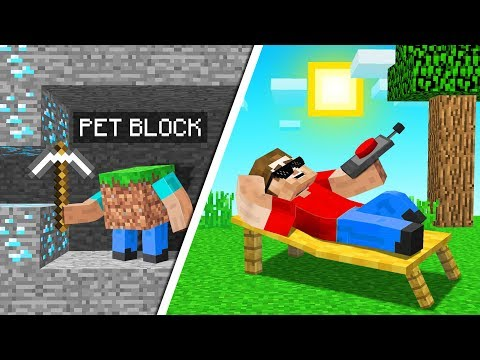 MINECRAFT But The BLOCKS MINE For You!