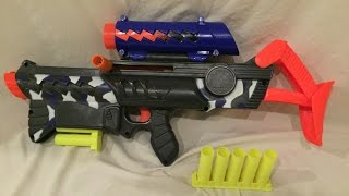 "Vintage Review: 1995 Nerf MaxxForce Sawtooth (First ""clip"" fed Nerf gun)"