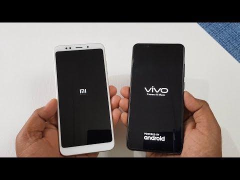 Xiaomi Redmi Note 5 vs ViVo V7+ Speed Test Comparison !