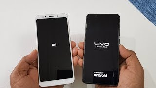 Xiaomi Redmi Note 5 vs ViVo V7+ Speed Test Comparison !