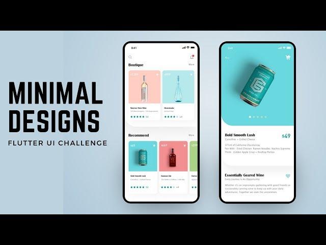 FlutterUI - Minimal Designs - Wine app - Speed Code