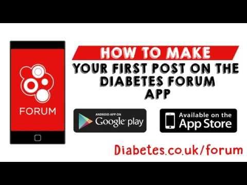 How to: Create a post on the Diabetes Forum App on IOS