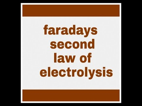 faradays second law of electrolysis in hindi and english