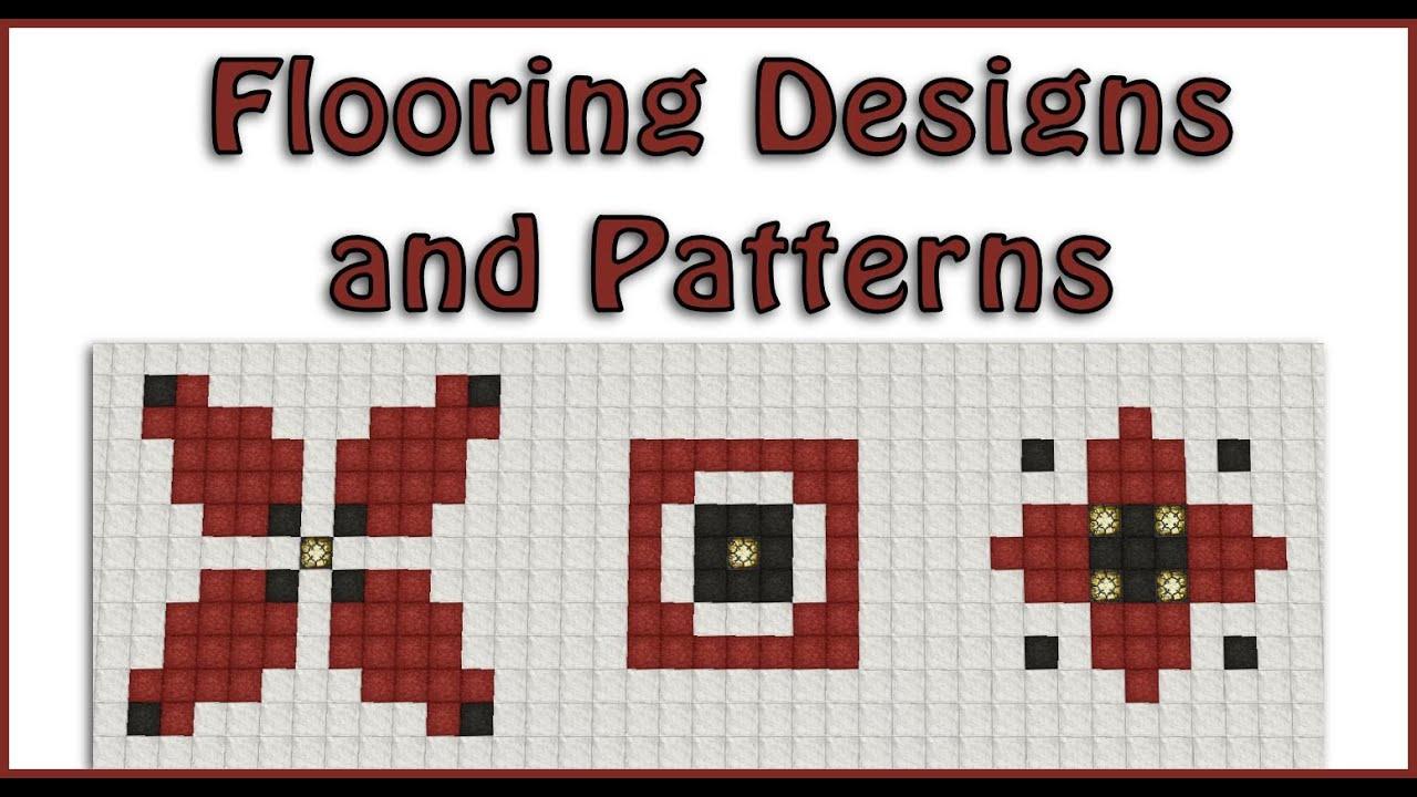 Flooring designs and patterns part 1 tutorial for Minecraft floor designs