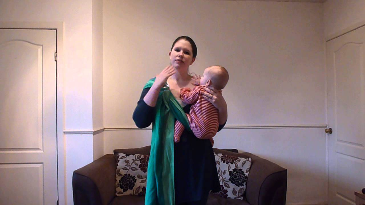 Using A Ring Sling Hip And Front Carries Youtube