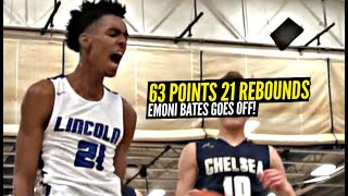 Emoni Bates Goes Insane For 63 Points & 21 Rebounds!! The Best 16 Year Old In The World!