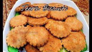 Jeera Biscuits - Cumin Cookies - Healthy Tea Time Snacks