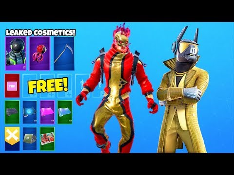 *NEW* Encrypted Emote & Overtime REWARDS..! (STATUE, RED Voyager LEAKED) Fortnite Battle Royale