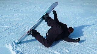 Jay lernt Snowboarden und verdreht sich sein Knie (in 4 Akten)