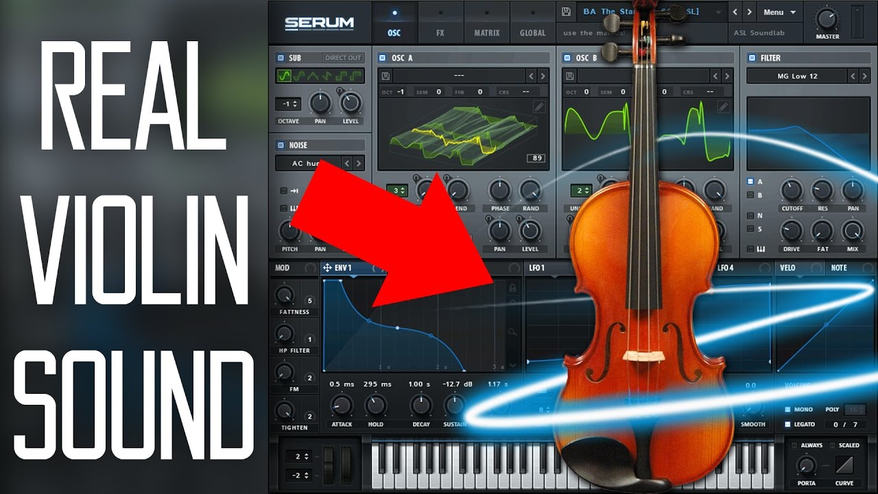 How To Make a PERFECT Violin Synth in Serum Tutorial (Free Preset)