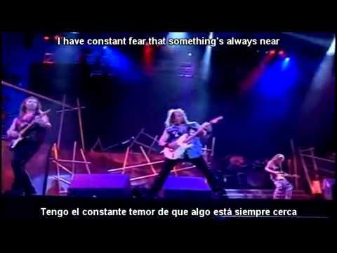 Iron Maiden   Fear of The Dark lyrics y subtitulos en español