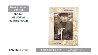 10674_FLORAL MEMORIAL PICTURE FRAME thumbnail