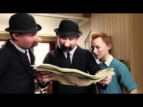 The Adventures of Tintin: The Secret Of The Unicorn - Newspaper Clue - Official Australian Clip