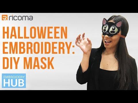 Embroidery Hub Ep. 21: DIY Mask | Halloween Embroidery Tutorial