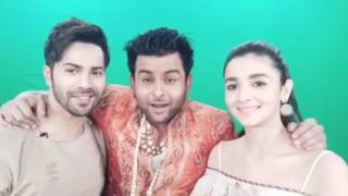Varun Dhavan and Alia bhatt with dr.Sanket bhosale for Badrinath ki Dulhania