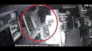 Sujeto fue captado ingresado por el techo de una panadería en Puente Alto - CHV NOTICIAS