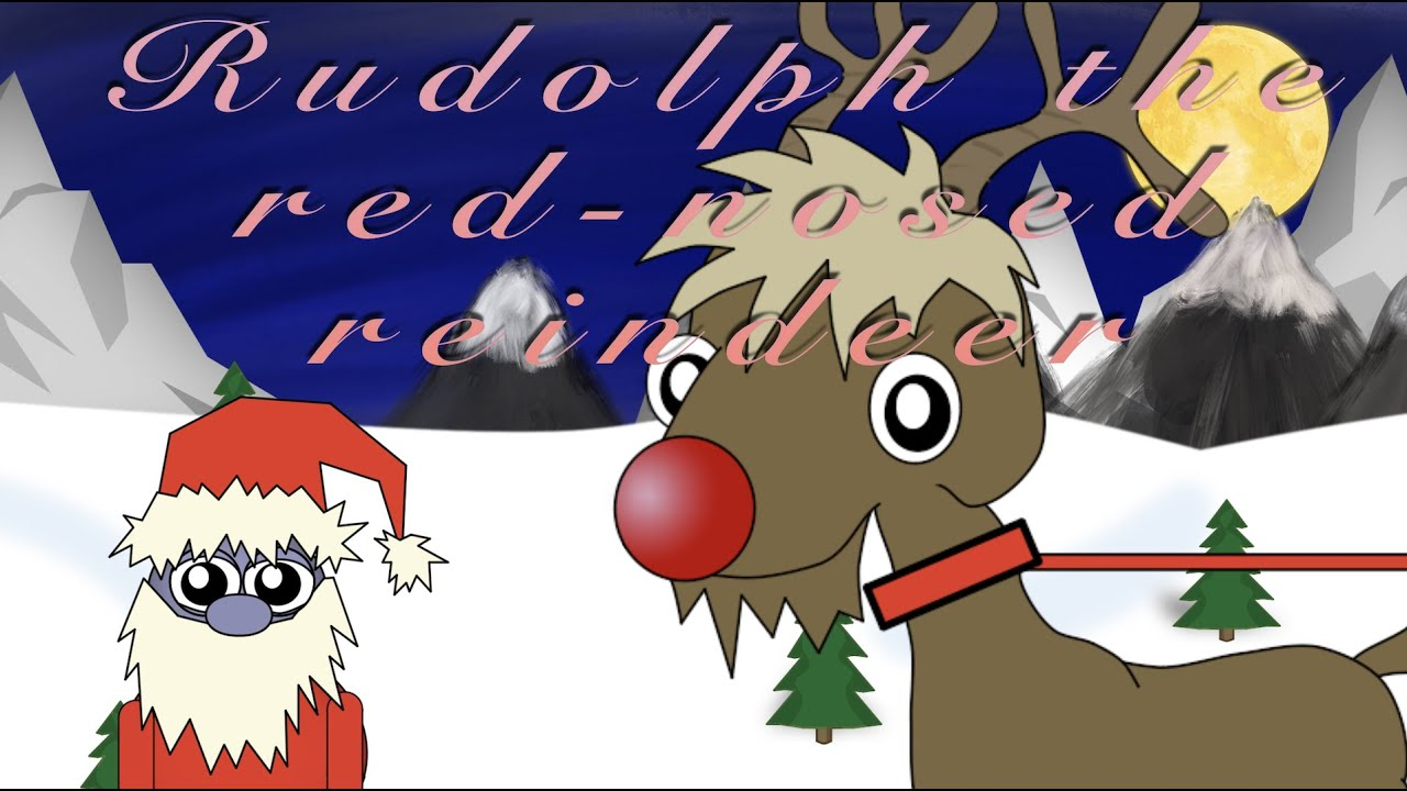 Rudolph the red-nosed reindeer ROCKS    CHRISTMAS SONG    KIDS SONG    Lyrics in description ...