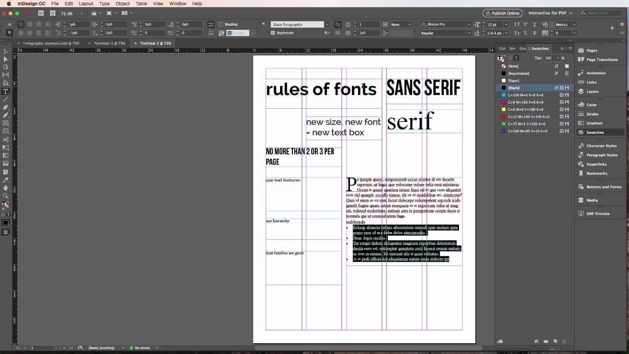 5 simple font rules for fonts - JSchool Tech | KU School of