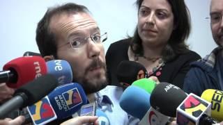 Pablo Echenique valora el estado de las negociaciones entre Podemos e Izquierda Unida