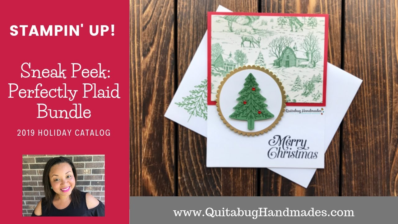 Repeat Stampin' Up! Perfectly Plaid Holiday Catalog Sneak