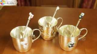 Детская серебряная кружка, детская серебряная ложка | glasko.com.ua(Иметь в повседневном обиходе ребенка изделия из столового серебра -- это древняя традиция, которая дошла..., 2013-06-20T19:47:43.000Z)