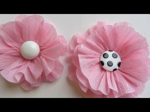 How to Make a Pink Shabby Crepe Paper Flower