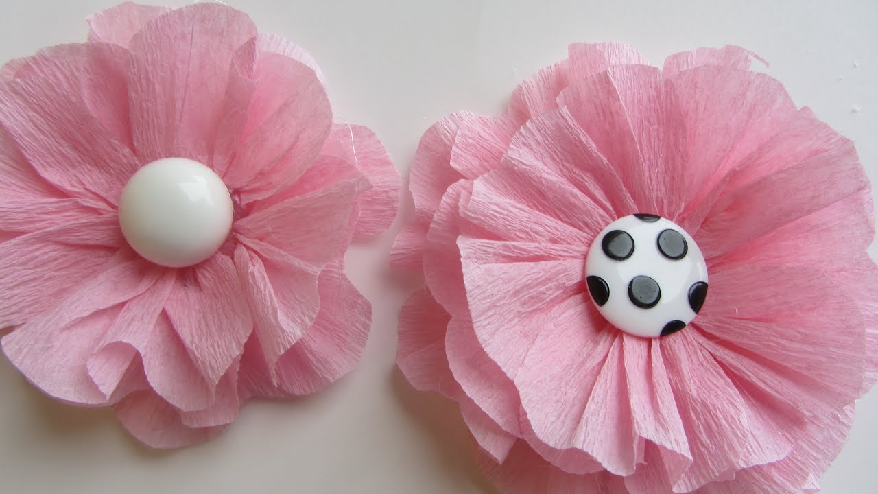 How to Make a Pink Shabby Crepe Paper Flower | Doovi