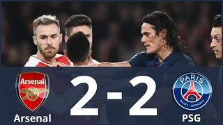 Arsenal vs PSG 2-2 Highlights & Goals (Uefa Champions League) HD 23/11/2016