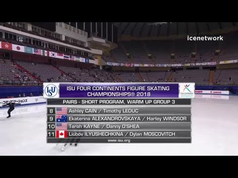 Pairs SP Warm Up Group 3 - 2018 Four Continents