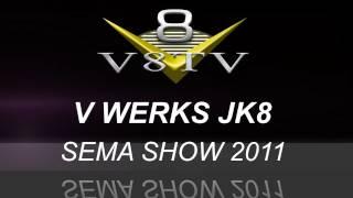 2011 SEMA Video Coverage - Venchurs V Werks Red Jacket Jeep JK8 V8TV