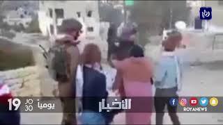 اعتقال الطفلة الفلسطينية عهد التميمي بعد دفاعها عن منزلها - (19-12-2017)