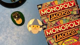 Florida Lottery Scratch Offs - $10 Monopoly Jackpot Tickets